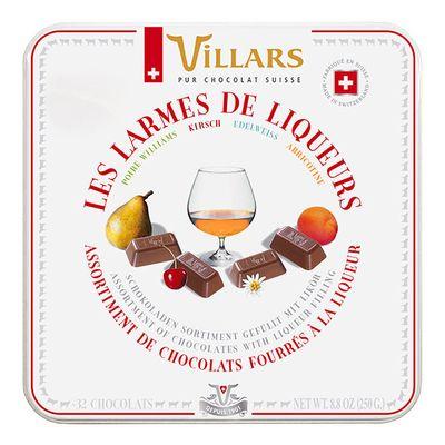 Подарочная коробка конфет 4 ликера в молочном шоколаде Villars 250 гр, фото 1