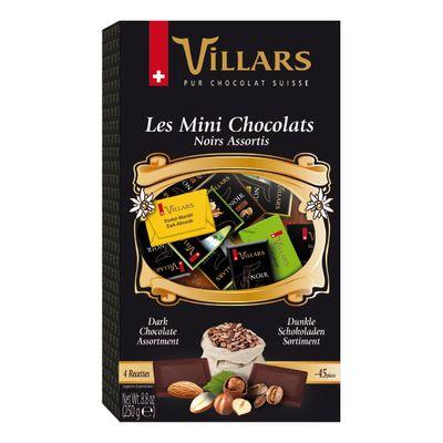 Горький и тёмный шоколад ассорти в мини-плитках Villars 250 гр, фото 1