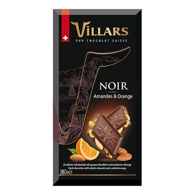 Тёмный шоколад с цельным миндалём и апельсиновыми цукатами Villars 180 гр, фото 2