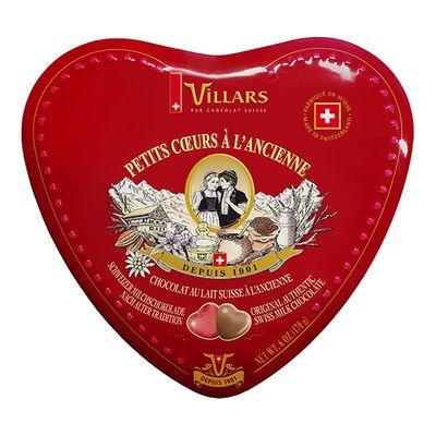 Сердечки из молочного шоколада по старому рецепту жесть Villars 170 гр, фото 1