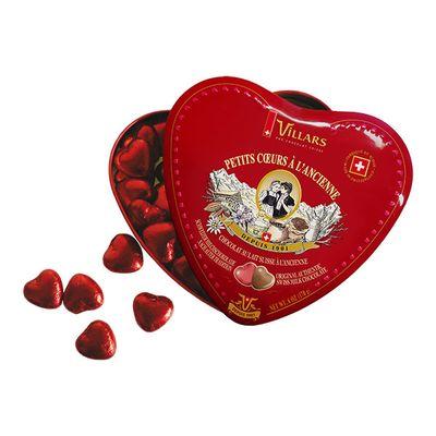 Сердечки из молочного шоколада по старому рецепту жесть Villars 170 гр, фото 2