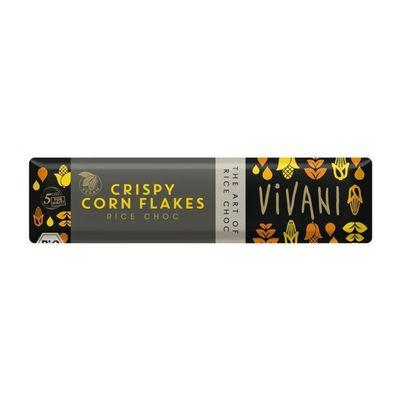 Шоколад органик веганский на рисовом молоке с кукурузными хлопьями Vivani 35 гр, фото 1