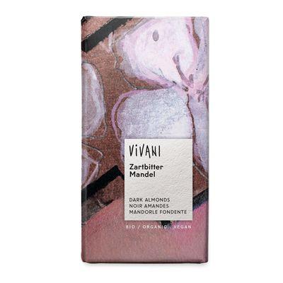Шоколад органик горький с миндалем 20% Vivani 100 гр, фото 1