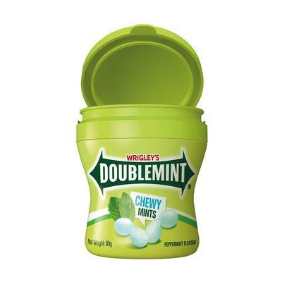 Жевательные конфеты мятный вкус Doublemint Chewy Mint Wrigley 80 гр, фото 1