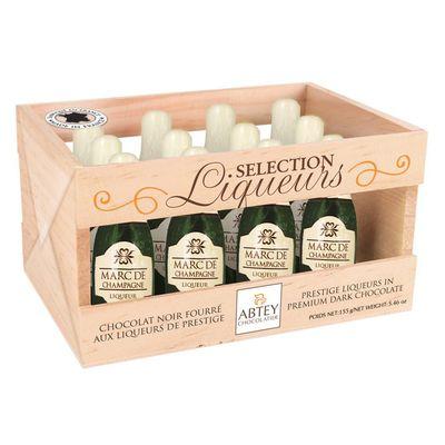 Ликерные конфеты бутылочки с шампанским Marc de Champagne Abtey 155 гр, фото 1