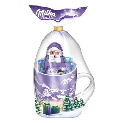 Подарочный набор Рождественская кружка со сладостями Milka 95 гр, фото 1