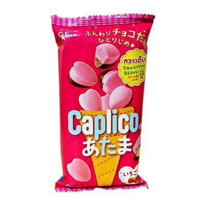 Молочный и клубничный шоколад в форме сердечек Glico Caplico 30 гр, фото 1