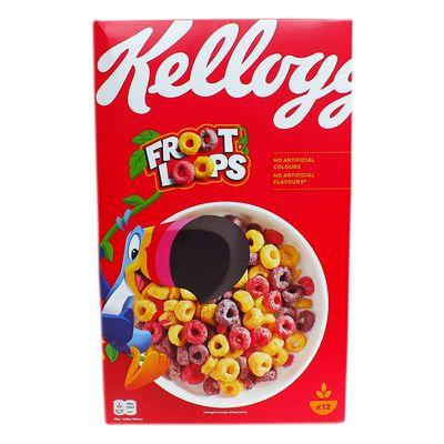 Сухой завтрак цветные колечки Froot Loops Kelloggs 375 гр, фото 3