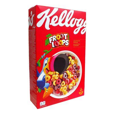 Сухой завтрак цветные колечки Froot Loops Kelloggs 375 гр, фото 4