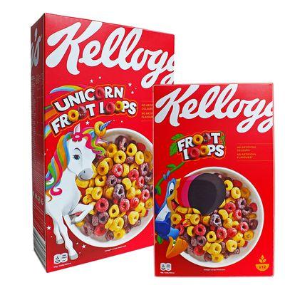 Сухой завтрак цветные колечки Froot Loops Kelloggs 375 гр, фото 2