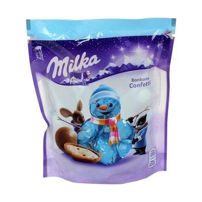 Новогодние конфеты Шоколадные шарики Bonbons Confetti Milka 86 гр, фото 2