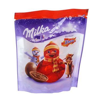 Новогодние конфеты Шоколадные шарики Bonbons Daim Milka 86 гр, фото 2
