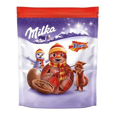 Новогодние конфеты Шоколадные шарики Bonbons Daim Milka 86 гр, фото 1