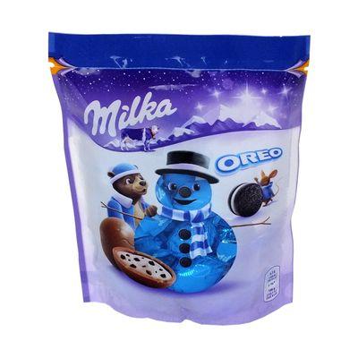 Новогодние конфеты Шоколадные шарики Bonbons Oreo Milka 86 гр, фото 2