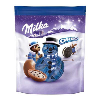 Новогодние конфеты Шоколадные шарики Bonbons Oreo Milka 86 гр, фото 1
