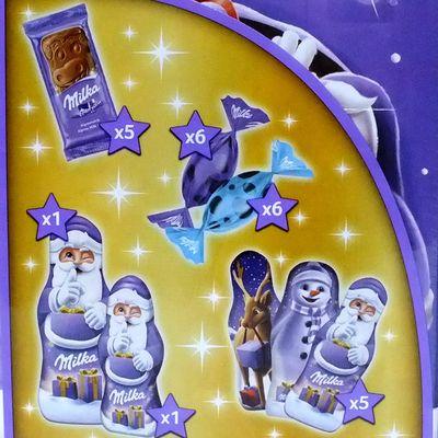 Рождественский шоколадный календарь 3D дом Milka 229 гр, фото 7