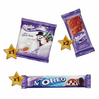 Подарочный набор плюшевая игрушка и шоколад Milka MAGIC MIX 96 гр, фото 8