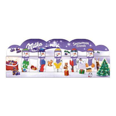 Шоколадный набор Снеговик и друзья Snowman Friends Milka 5x15 гр, фото 2