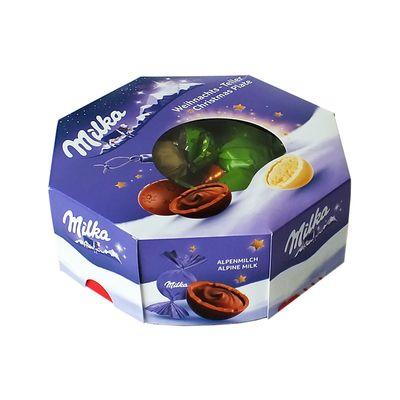 Набор шоколадных конфет Рождественская тарелка Milka 141 гр, фото 1