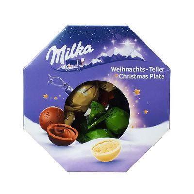 Набор шоколадных конфет Рождественская тарелка Milka 141 гр, фото 3