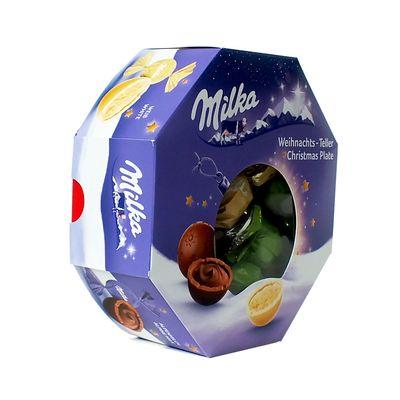 Набор шоколадных конфет Рождественская тарелка Milka 141 гр, фото 4