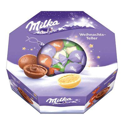 Набор шоколадных конфет Рождественская тарелка Milka 141 гр, фото 6
