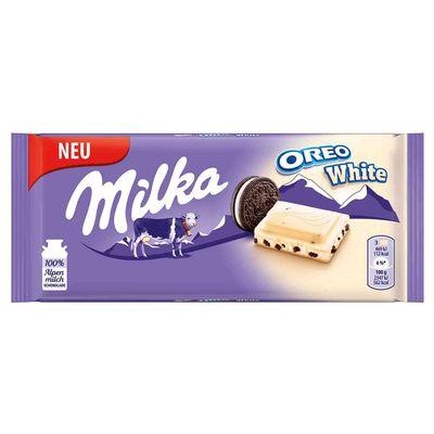 Белый шоколад с печеньем Milka Oreo White 100 гр, фото 1