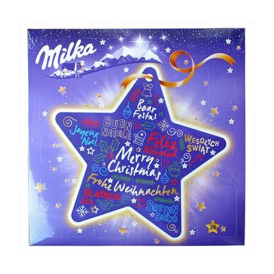 Шоколадный подарочный новогодний календарь сюрприз Звезда Milka 213 гр, фото 2