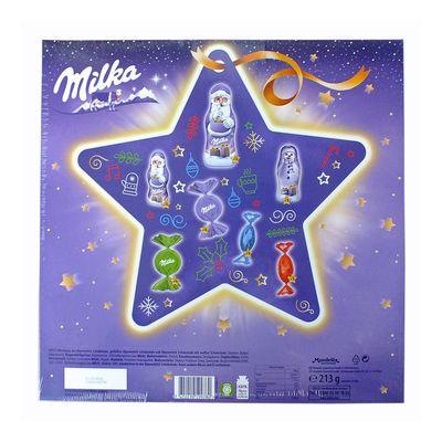 Шоколадный подарочный новогодний календарь сюрприз Звезда Milka 213 гр, фото 3
