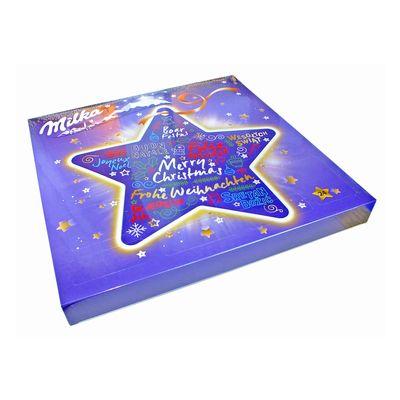 Шоколадный подарочный новогодний календарь сюрприз Звезда Milka 213 гр, фото 1