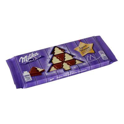 Шоколад в виде елки молочный и белый Sweet Winter Milka 100 гр, фото 1
