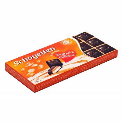 Тёмный шоколад Peanut and Salted Caramel Schogetten 100 гр, фото 2