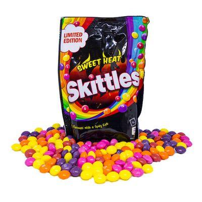 Драже Фруктовое ассорти с острым вкусом Sweet Heat Skittles 196 гр, фото 2