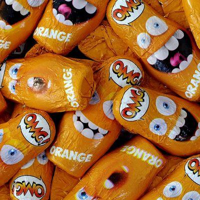 Шоколадные конфеты со взрывной карамелью вкус апельсина OMG! Orange Sorini 1 кг, фото 4