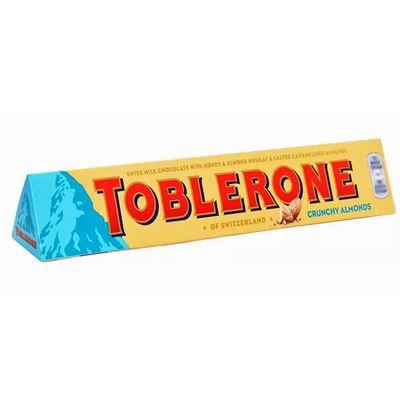 Молочный шоколад c миндалем Crunchy Almonds Toblerone 100 гр, фото 1