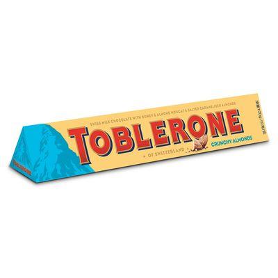 Молочный шоколад c миндалем Crunchy Almonds Toblerone 100 гр, фото 2
