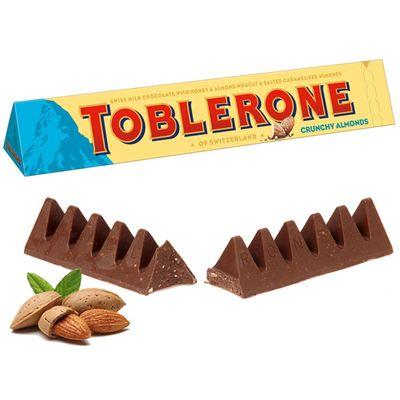 Молочный шоколад c миндалем Crunchy Almonds Toblerone 100 гр, фото 3