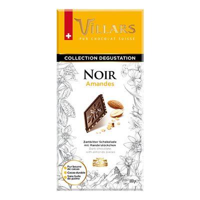 Темный шоколад с кусочками миндаля Villars 100 гр, фото 1