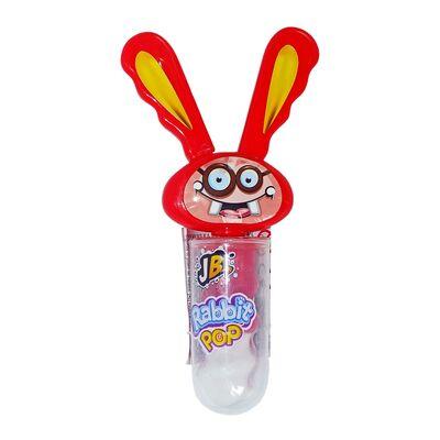 Кролик крутящийся леденец Клубника Rabbit Pop Johny Bee 23 гр, фото 1