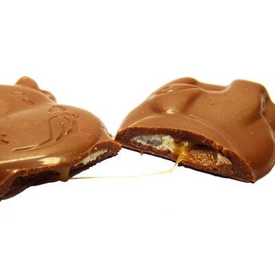 Шоколад с карамельным кремом Moo Caramel Creme Milka 16 гр, фото 4