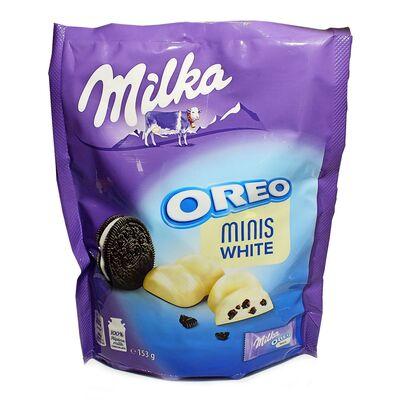 Конфеты белый шоколад с печеньем Minis Milka Oreo White 153 гр, фото 2