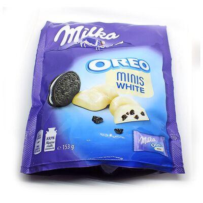 Конфеты белый шоколад с печеньем Minis Milka Oreo White 153 гр, фото 3