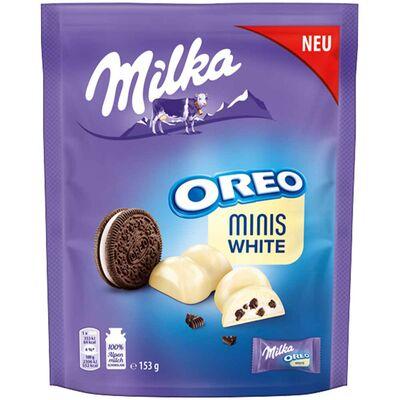 Конфеты белый шоколад с печеньем Minis Milka Oreo White 153 гр, фото 4