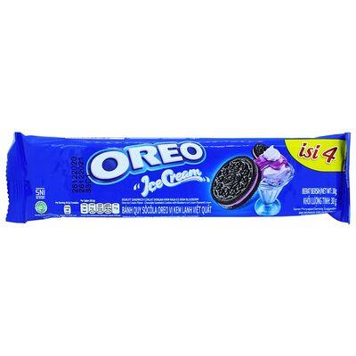 Печенье c кремом черничное мороженое Oreo Ice Creme 38 гр, фото 1